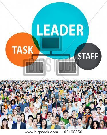 Task Leader Staff Crown Human Resource People Business Concept