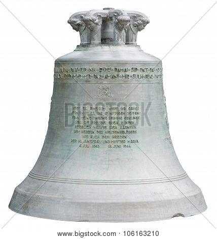Big bell on white