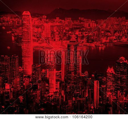 City Scape Buildings Urban Scene Business District Concept