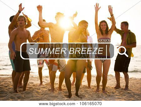 Summer Breeze Relaxation Holiday Happiness Fresh Concept