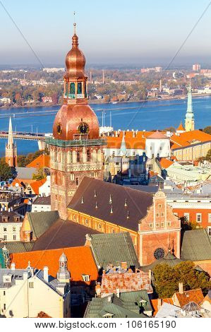 Riga. View from the top Dome Cathedral.