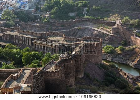 Mehrangarh fort view from top