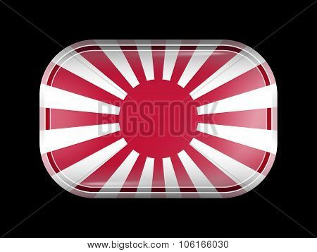 Flag Of Japan. Rectangular Shape With Rounded Corners