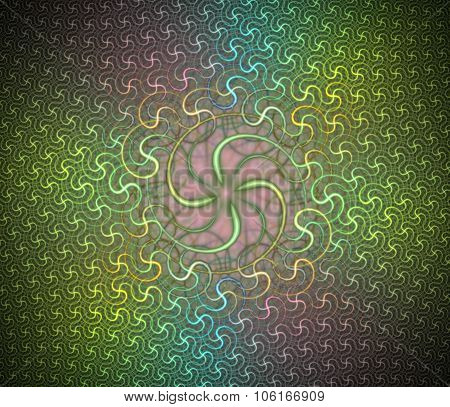 Spiral dance. Fractal smooth background