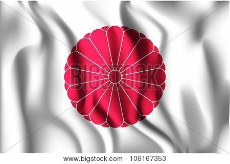Flag Of Japan. Rectangular Shape Icon