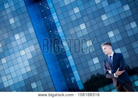 Businessperson In A Big City