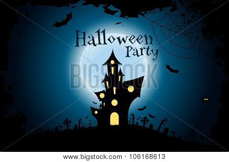 Grungy Halloween Party Background