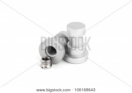 Light stand adapter isolated on white