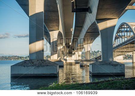Seattle Bridge On Lake