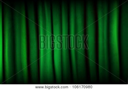 Green Curtain With Texture