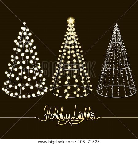 Glowing Christmas trees