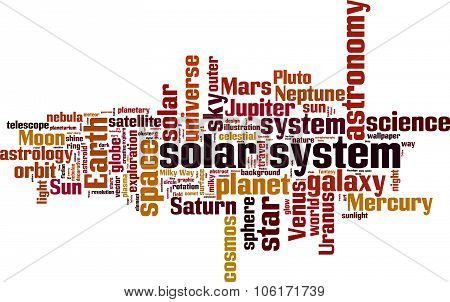 Solar System History Word Cloud