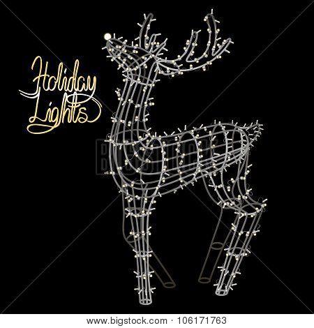 Glowing Christmas deer