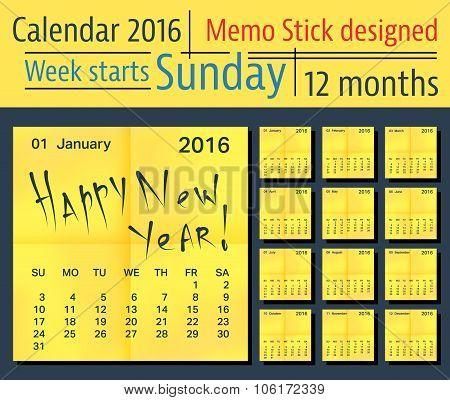 Calendar vector template