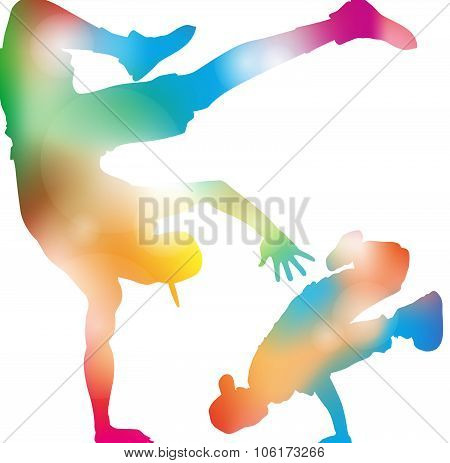 Abstract B-boy Dancers.