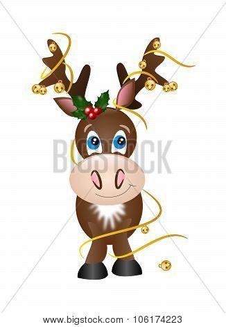 Reindeer With Jingle Bells