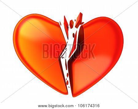 Abstract Brocken Heart