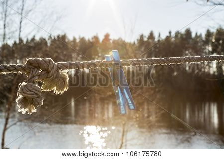 Clothes Pin On Clothes Line
