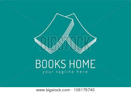 Books vector logo icon