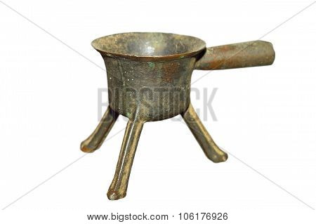 Ancient Isolated Alloy Pot