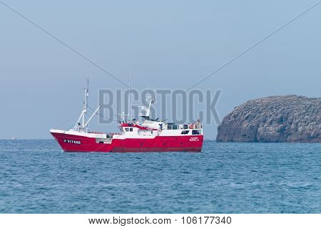 Fishing Boat Near Peniche, Portugal