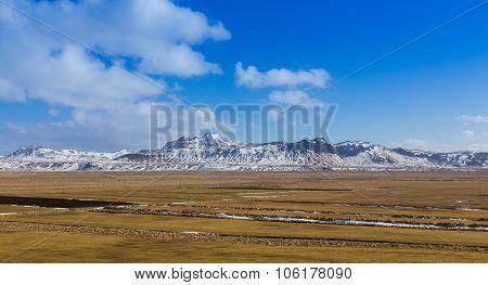 Beautiful Landscape of snowy mountain