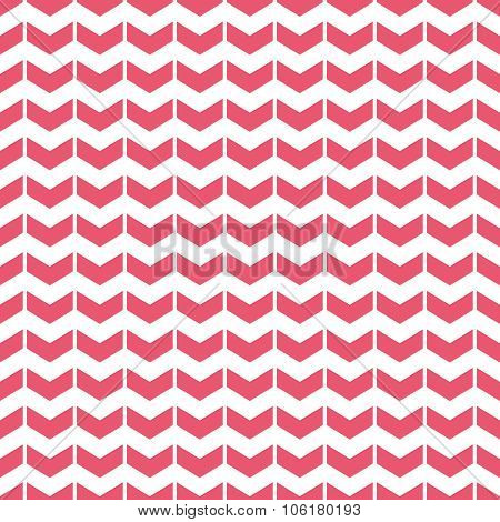 Tile vector pattern with pink arrows on white background