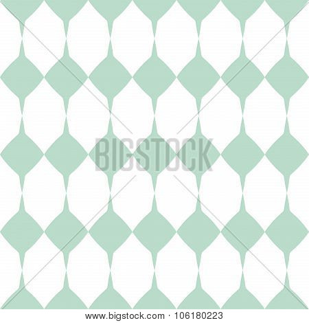 Tile vector mint green and white pattern or website background