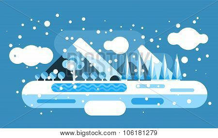 Abstract outdoor winter landscape