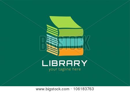 Books vector logo. Books icons. Books skyscraper. Books isolated on white background. Book logo. School books. Education books, university, books symbol, book stack. Book vector