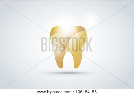 Tooth Icon vector logo template. Health, medical or doctor and dentist office symbols. Oral care, dental, dentist office, tooth health, tooth care, clinic. Tooth logo. Tooth icon. Tooth silhouette