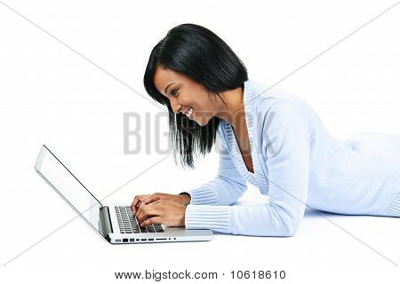 Young Woman Using Laptop Computer