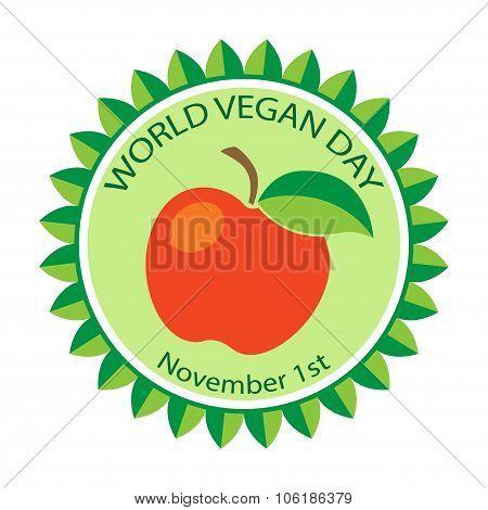 Logo for World Vegan Day.