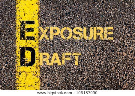 Business Acronym Ed As Exposure Draft