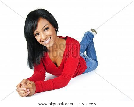 Young Woman Smiling Festlegung