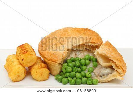 Chicken Pie Closeup