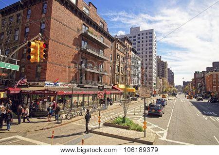 Semi-deserted Ninth Avenue