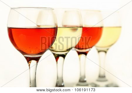 Rose And White Wine