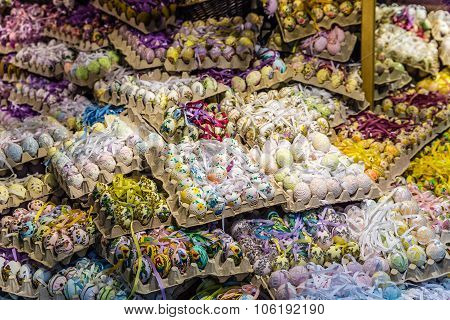 Shop With Many Colorful Easter Eggs-salzburg