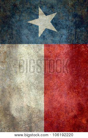 Texas State Flag Vintage Retro Style