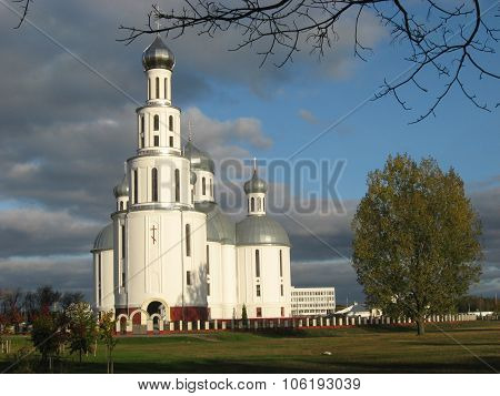 Holy Resurrection Cathedral in the autumn, Brest, Belarus