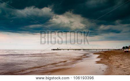 nord sea dark clouds