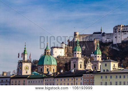 Salzburg Skyline And Hohensalzburg Fortress-austria
