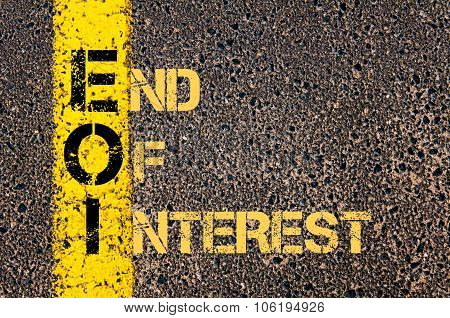 Business Acronym Eoi As End Of Interest