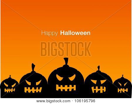 Happy Halloween Holiday Card Display Design