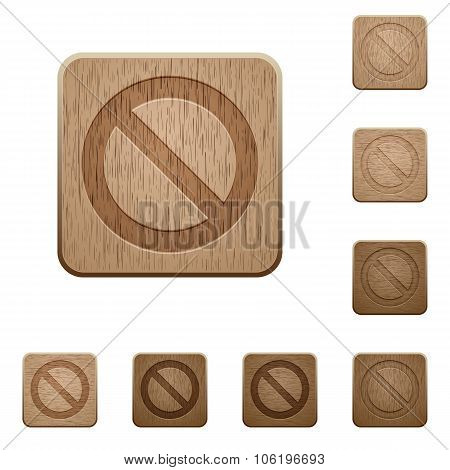Blocked Wooden Buttons