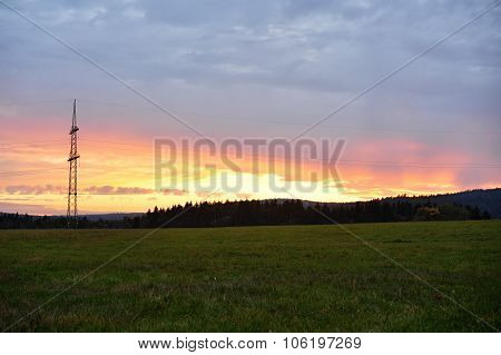 Power Lines In The Landscape
