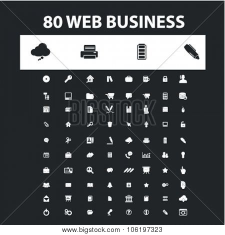 web business, marketing, management icons, signs concept vector set for website, mobile, infographics