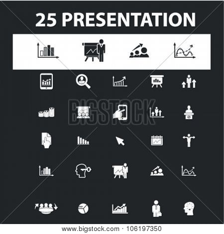 presentation, chards, growth, pie, diagram, economics, stats icons, signs concept vector set for website, mobile, infographics