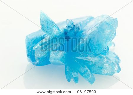 Blue Crystals Isolated
